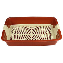 Туалет-лоток DOGMAN Большой с сеткой для кошек 42х31х7см