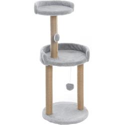 Smartpet Когтеточка Серая с круглой площадкой и игрушкой