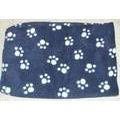 Бобровый дворик Плед для собак и кошек Синие лапки