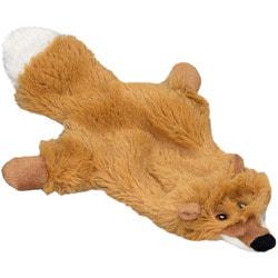 """DOGMAN Игрушка для собак меховая """"Лиса"""" с пищалкой"""