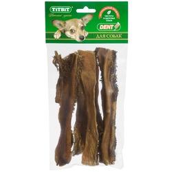 TiTBiT Лакомство для собак Рубец говяжий 19см XL - мягкая упаковка