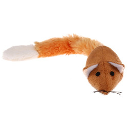 Антицарапки Бесшумная плюшевая мышка для кошки с кошачьей мятой