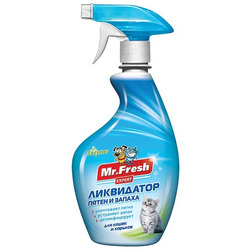 Mr.Fresh 3в1 ликвидатор пятен и запаха для кошек
