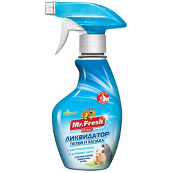 Mr.Fresh 2в1 Ликвидатор запаха для клеток для хорьков, птиц и грызунов
