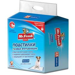 Mr.Fresh Гелевые одноразовые впитывающие пеленки Regular