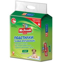 Mr.Fresh Start Гелевые подстилки повышенной впитываемости для приучения к месту щенков и котят