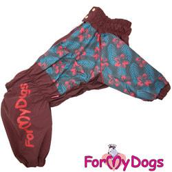 ForMyDogs Дождевик для крупных собак Коричневый на девочку