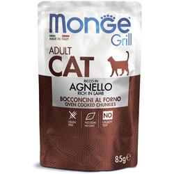 Monge Cat Grill Pouch паучи для взрослых кошек новозеландский ягненок