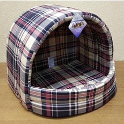 Бобровый дворик Домик для собак и кошек Эстрада Шотландка серо-голубая