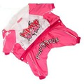 ForMyDogs Комбинезон на теплом гладком меху розовый девочка