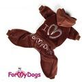 ForMyDogs Костюм велюровый коричневый для девочек