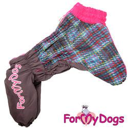 ForMyDogs Комбинезон для крупных собак Серо-розовый, девочка