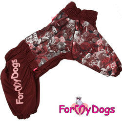 ForMyDogs Комбинезон для больших собак Мишки коричневый на девочку