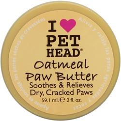 Pet Head OATMEAL Natural Paw Butter Масло для потрескавшихся Лап с маслами ши, овсянки, жожоба, кокоса, оливок и алоэ вера