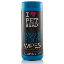 """Pet Head PAW & BODY Салфетки гипоаллергенные """"Цитрусовый бум"""" для лап и тела"""