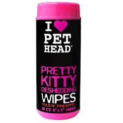 """Pet Head Pretty Kitty Салфетки гипоаллергенные """"Вкусный Ананас"""" от линьки у кошек, без сульфатов и парабенов"""