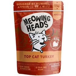 """Barking Heads Паучи для кошек и котят с индейкой, говядиной и курицей """"Аппетитная индейка"""""""
