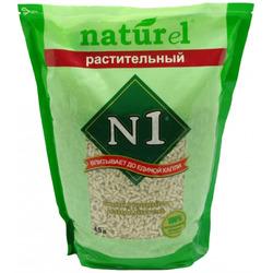 """Наполнитель №1 """"Naturel. Растительный"""" для кошачьего туалета, комкующийся"""