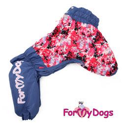 ForMyDogs Комбинезон для крупных собак Фиолетовый с розовым на девочку