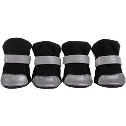 4 My Pets Ботиночки-носочки для маленьких собак черные с усиленным мысом