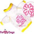 ForMyDogs Толстовка белая для собак