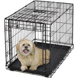 """MidWest Клетка Ovation Single Door Crate 30"""" с рельсовой дверью для мелких собак и кошек"""