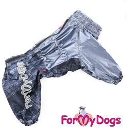 ForMyDogs Дождевик на крупные породы собак Графит мальчик