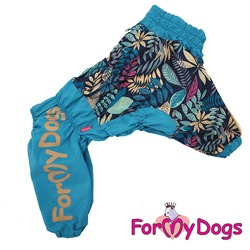 """ForMyDogs Дождевик для крупных собак """"Рябинушка"""" синий, мальчик"""
