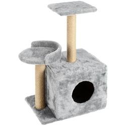 Smartpet Домик для кошек с когтеточками и полочкой-лежанкой серого цвета