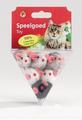 """Beeztees Игрушка для кошек """"Мыши плюшевые"""" в треугольной упаковке"""
