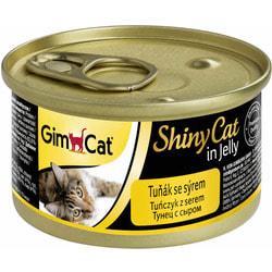 Консервы GimCat ShinyCat для кошек из тунца с сыром в желе