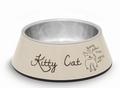 Beeztees Kitty Миска 2в1 для кошек бежевая 14х4,5см