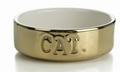 Beeztees Миска для кошек керамическая золотая