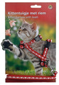 I.P.T.S./Beeztees Шлейка для котят нейлоновая красная с сердечками