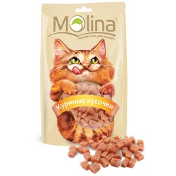 Molina Лакомство для кошек Куриные кусочки