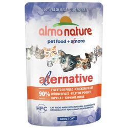 Almo Nature Alternative Паучи для кошек Куриное филе 90% мяса (Alternative - Chicken Fillet)