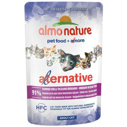 Almo Nature Alternative Паучи для кошек Тунец Индийского океана 91% мяса (Alternative - Indian Ocean Tuna)