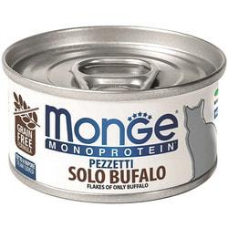 Консервы Monge Monoprotein Cat мясные хлопья для кошек из мяса буйвола