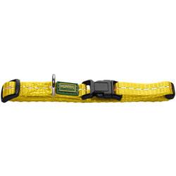 Hunter Ошейник для собак Tripoli Vario Basic, нейлон желтый, светоотражающий