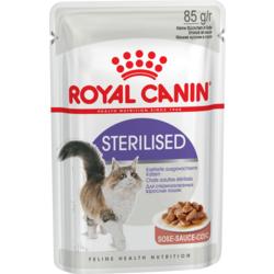 Royal Canin Sterilised пауч для стерилизованных кошек кусочки в соусе Мясо
