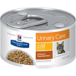 HILL'S Prescription Diet Urinary Care c/d Multicare Stew with Chicken & Added Vegetables Cat диетические консервы для кошек Профилактика МКБ струвиты рагу из курицы