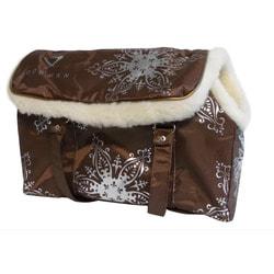 DOGMAN Сумка-переноска теплая с мехом для собак и кошек №8М коричневая 38х18х25см