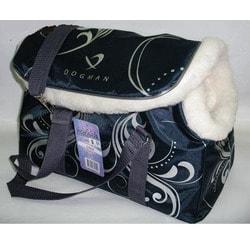 DOGMAN Сумка-переноска теплая с мехом для собак и кошек №8М Черная