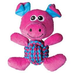Kong Игрушка для собак Weave Knots Свинка