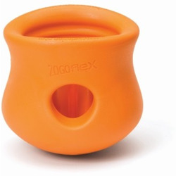 Zogoflex Игрушка под лакомства для собак Toppl S оранжевая