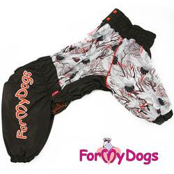 ForMyDogs Комбинезон для крупных пород собак Аисты на мальчики