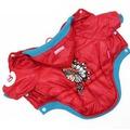 ForMyDogs Куртка красная Индеец для мелких пород собак унисекс