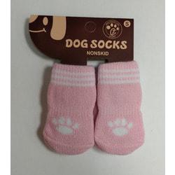 Антицарапки Носки для собак Розовые Лапки