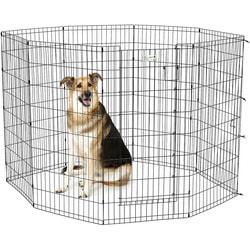 MidWest Вольер черный с дверью 61х122см для щенков и крупных собак