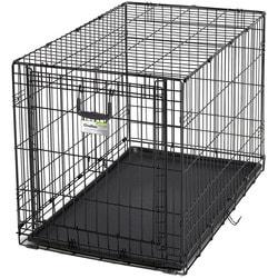 """MidWest Клетка Ovation Single Door Crate 36"""" с рельсовой дверью для щенков и средних собак"""
